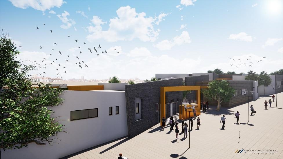 מרכז קהילתי חדשיוקם בבאר שבע עם הבלוק האדום