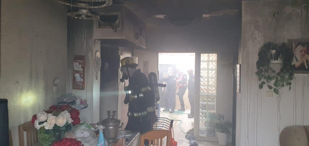 שריפה בבאר שבע כתוצאה מטעינת סוללת ליתיום