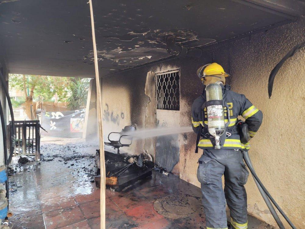 שריפה ברחוב החיד״א בב״ש