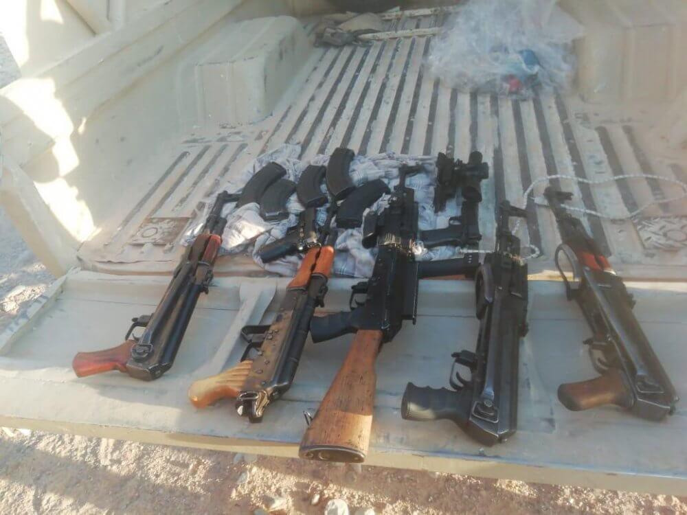 רובים ואקדחים נתפסו במבצע של משטרת ישראל וכוחות מגב