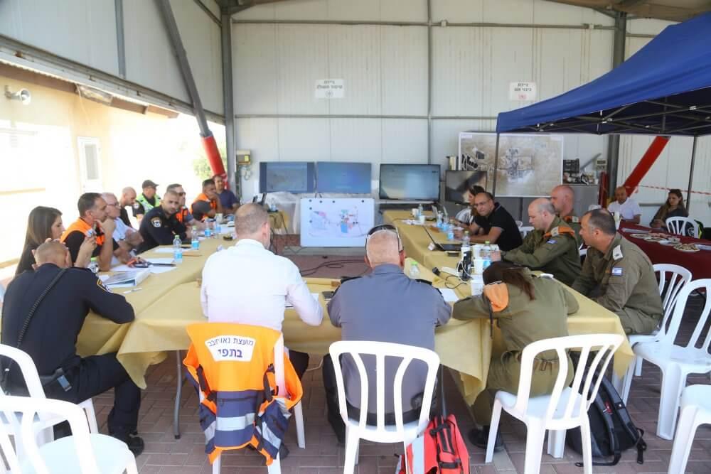 מועצת נאות חובב ערכה תרגיל המדמה פגיעת טיל במפעל טבע-טק